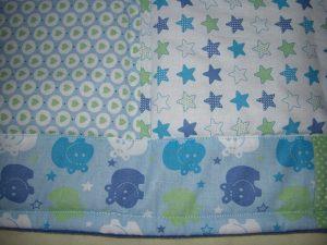 Babydecke blau - Babyerstausstattung